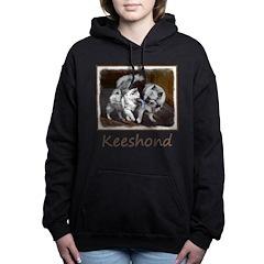 Keeshond Playtime Women's Hooded Sweatshirt
