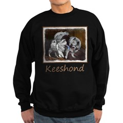 Keeshond Playtime Sweatshirt (dark)