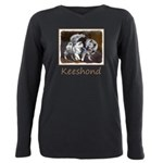 Keeshond Playtime Plus Size Long Sleeve Tee