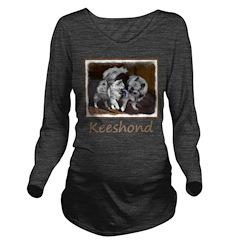 Keeshond Playtime Long Sleeve Maternity T-Shirt