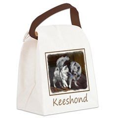 Keeshond Playtime Canvas Lunch Bag