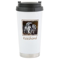 Keeshond Playtime Travel Mug