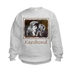 Keeshond Playtime Kids Sweatshirt