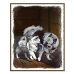 Keeshond Playtime Small Poster