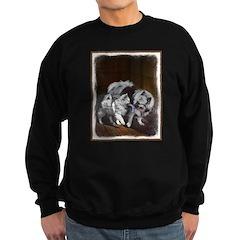 Keeshond Playtime Sweatshirt (dark)