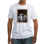 Keeshond Playtime Fitted T-Shirt
