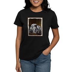 Keeshond Playtime Women's Dark T-Shirt