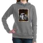 Keeshond Playtime Women's Hooded Sweatshirt