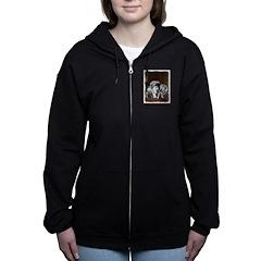 Keeshond Playtime Women's Zip Hoodie