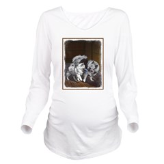 Keeshond Playtime Long Sleeve Maternity T-Shirt