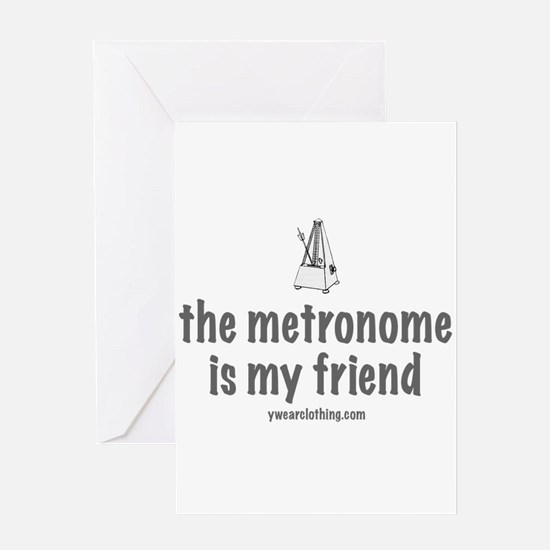 Metronome Friend Greeting Cards