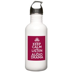 Keep Calm and Listen to Audio Drama Water Bottle