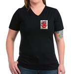 Frye Women's V-Neck Dark T-Shirt