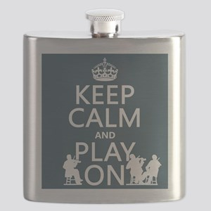 Keep Calm and Play On (strings) Flask