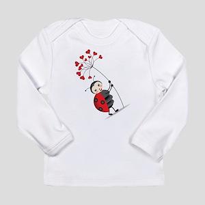 ladybug with heart tree Long Sleeve T-Shirt
