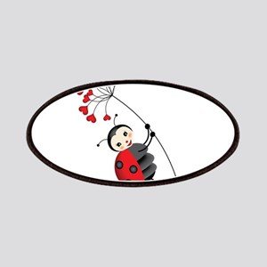 ladybug with heart tree Patches
