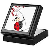 Ladybug Square Keepsake Boxes