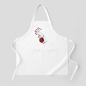 ladybug with heart tree Apron
