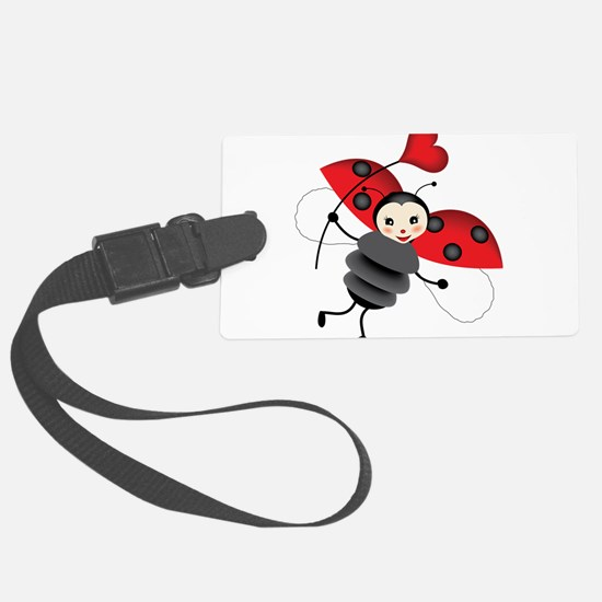 Flying Ladybug with Heart Luggage Tag