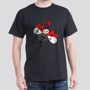 Flying Ladybug with Heart T-Shirt