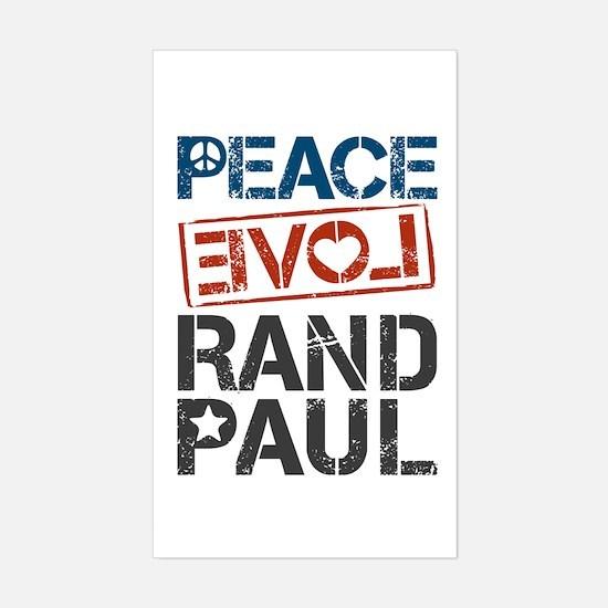 Peace Love Rand Paul Sticker (Rectangle)