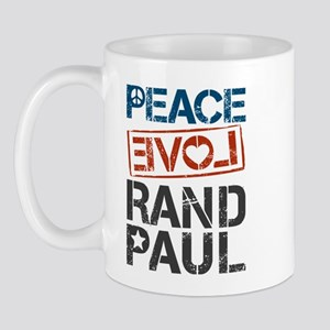 Peace Love Rand Paul Mug