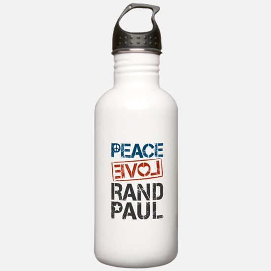 Peace Love Rand Paul Water Bottle