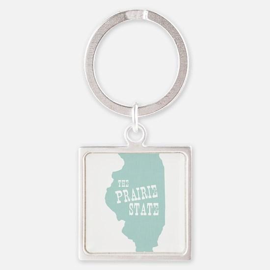 Illinois Square Keychain