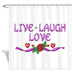 Live Laugh Love Shower Curtains