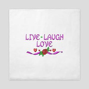 Live Laugh Love Queen Duvet
