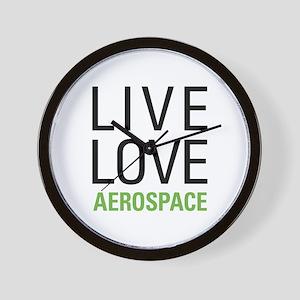 Live Love Aerospace Wall Clock