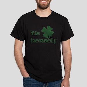 tis herself shamrock transparent copy T-Shirt