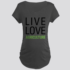 Live Love Agriculture Maternity Dark T-Shirt