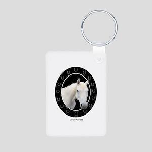 Horse Theme Design #41000 Aluminum Photo Keychain