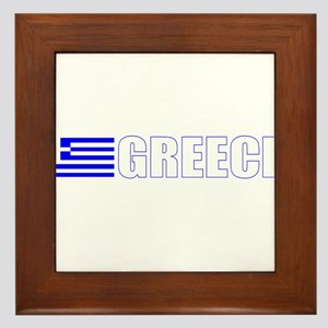 Greece Flag Framed Tile