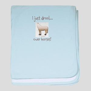 Horse Theme Design #51000 baby blanket