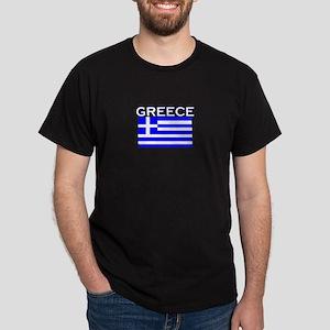 Greece Flag II Dark T-Shirt