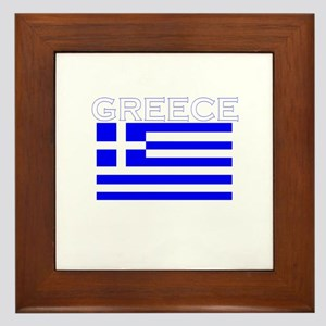 Greece Flag II Framed Tile