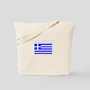 Greece Flag II Tote Bag