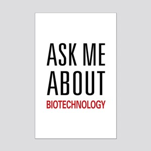 Ask Me About Biotechnology Mini Poster Print