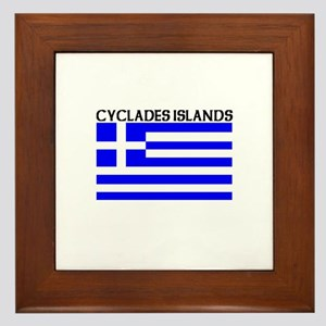Cyclades Islands, Greece Framed Tile