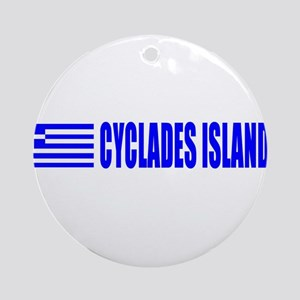 Cyclades Islands, Greece Ornament (Round)