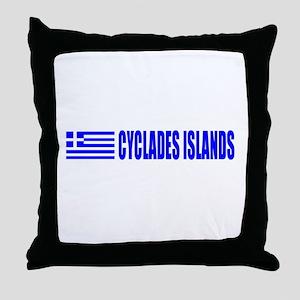 Cyclades Islands, Greece Throw Pillow