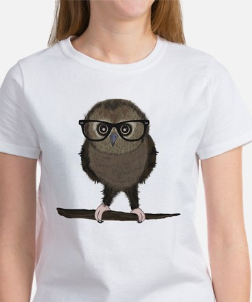 Hipster Owl with Glasses T-Shirt
