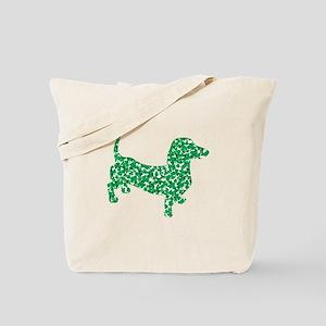 Lucky Shamrock Dachshund Tote Bag