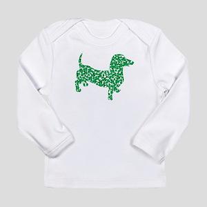 Lucky Shamrock Dachshun Long Sleeve Infant T-Shirt