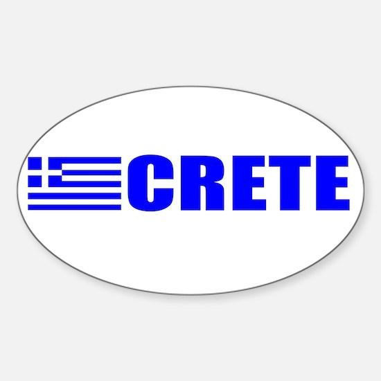 Crete, Greece Oval Decal