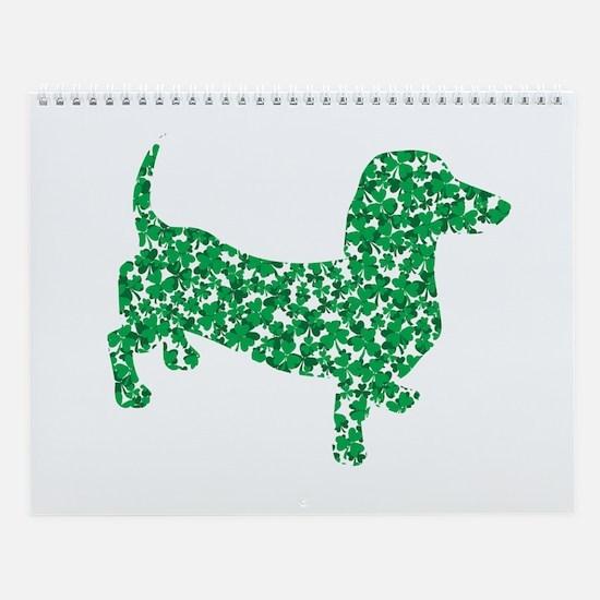 Lucky Shamrock Dachshund Wall Calendar