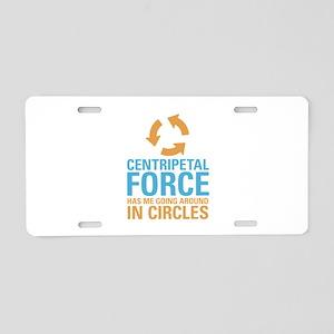 Centripetal Force Aluminum License Plate