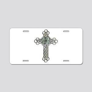 Clover Cross Aluminum License Plate